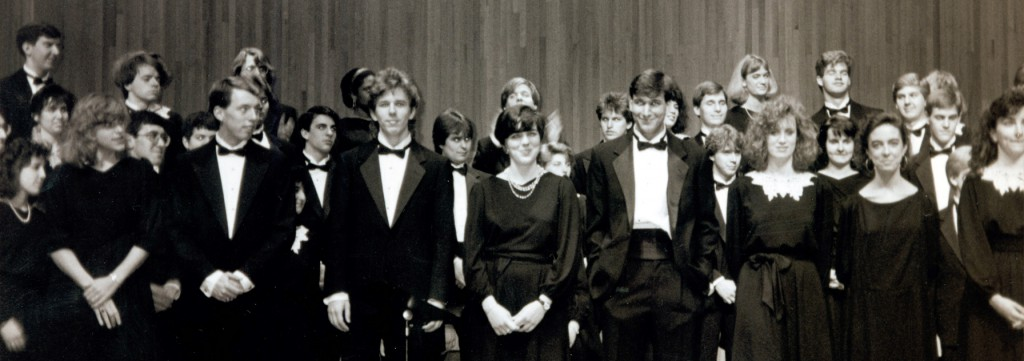 Wooster Chorus seniors in 1990.